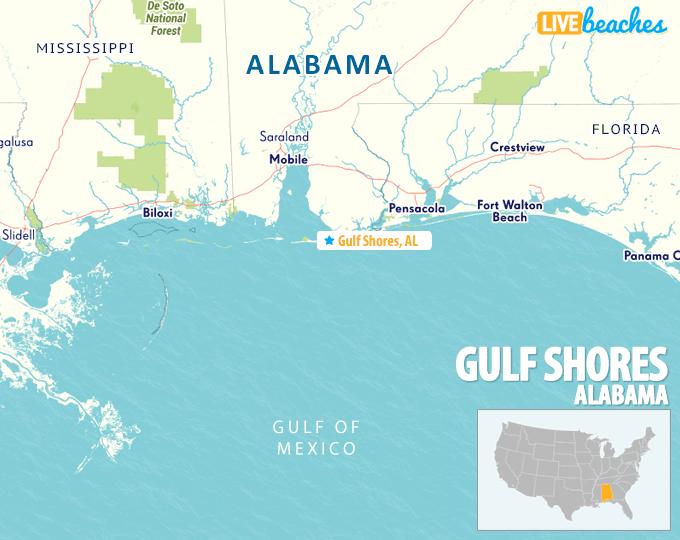 Map Of Gulf Shores Alabama Live Beaches