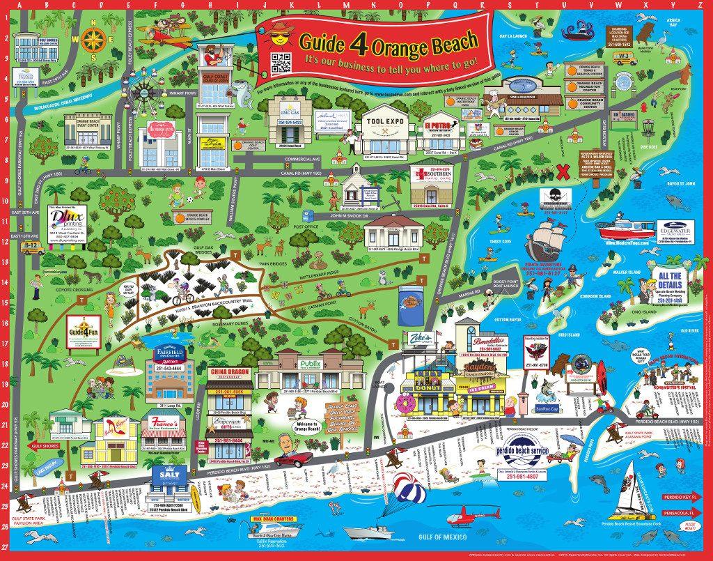 Orange Beach Zoom in Map Perdido Key Orange Beach Things