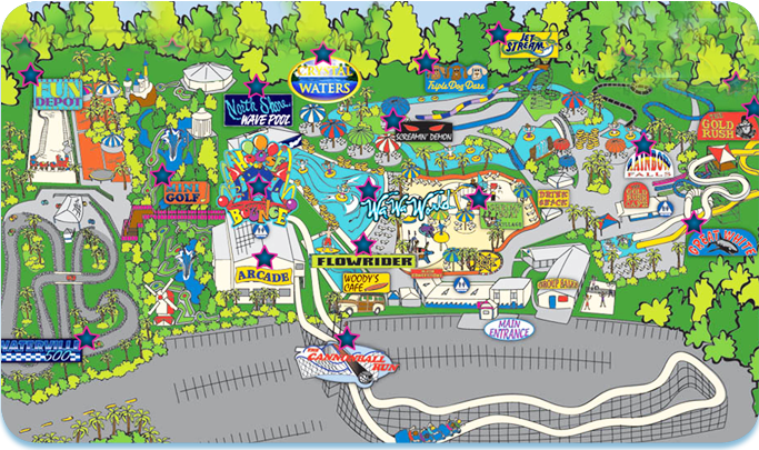 Gulf Shores Alabama Map Of Attractions