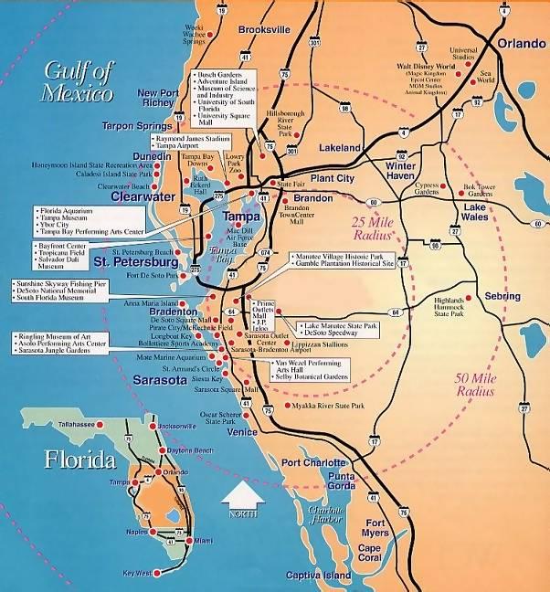 Secret Places Location Map Of Florida s Gulf Coast